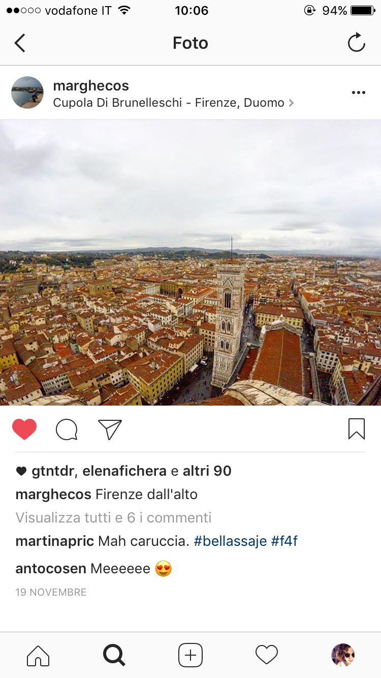 elementi salvati instagram